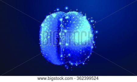 Virus, Covid-19. Corona Virus Vector Illustration On Blue Background