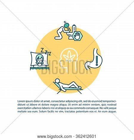 Good Marijuana Effects Concept Icon With Text. Medical Cannabis Treatment. Appetite, Sleep Improveme
