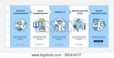 Heart Screening Onboarding Vector Template. Cardiovascular Disease Diagnostics. Health Examination.