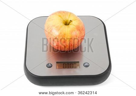 Apple on a scale