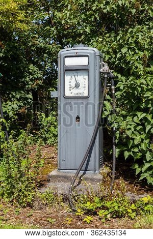 Lauder, Scotland - June 17:  A Disused Gilbarco Petrol Pump Is Pictured Near Lauder In The Scottish