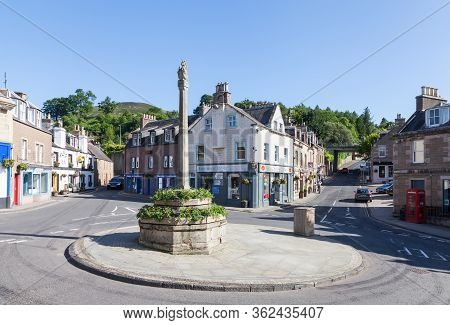 Melrose,scotland - June 17:  Melrose Town Centre In The Scottish Borders Is Pictured On June 17, 201