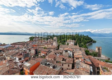 Harbor Of Sirmione From The Tower Of Scaliger Castle