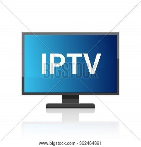 Iptv Vector Icon. Ip Tv Video Channel Box Concept Icon.