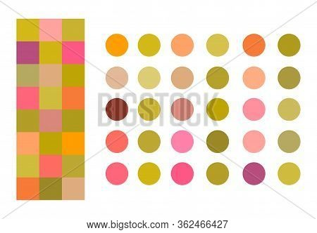 Summer Bright Color Palette Vector Illustration Set. Neon Swatches Tones Interior, Clothing Fabric C