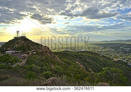 View From Castle Hill On The City Of Townsville As Well As The Hill Itself