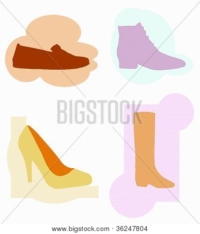 Four types of shoes for advertisers