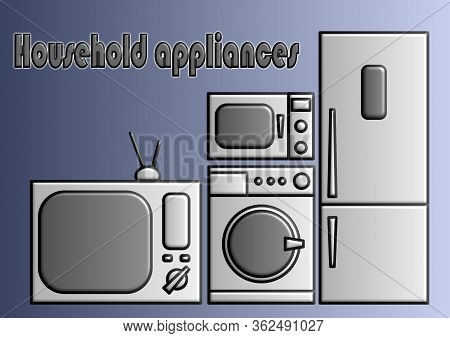 Template For A Text With Home Appliances
