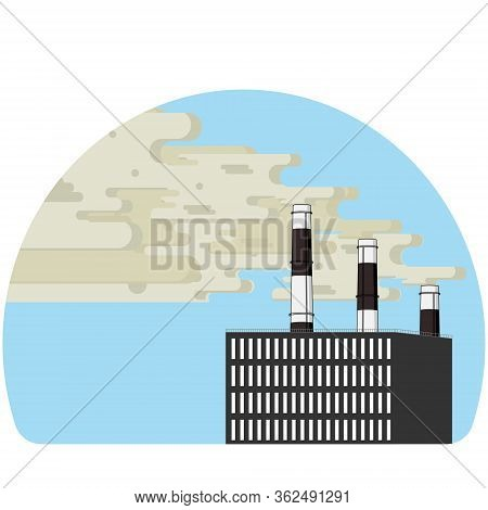 Harmful Emissions. Protecting The Ecology Of The Planet. Vector
