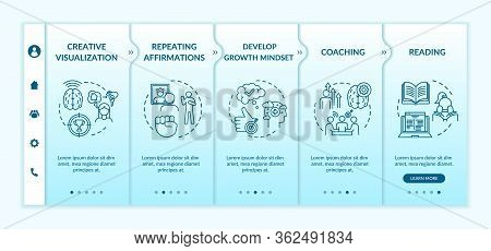 Lifestyle Training Onboarding Vector Template. Creative Visualization. Life Coaching. Repeat Affirma