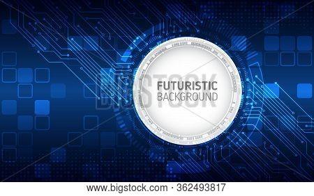 Futuristic Sci Fi Technology Background. Hi Tech Circuit Design Innovation Concept. Abstract Communi