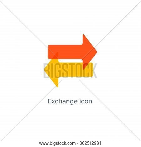 Exchange Arrow Icon, Reverse Swap Vector Switch Flip. Exchange Data Symbol Icon
