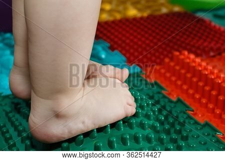 Education And Development Of The Child.massage And Orthopedic Mat, Carpet For Children. Early Develo