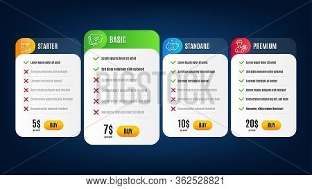 Coffee Maker, Support And Approved Line Icons Set. Pricing Table, Subscription Plan. Smile Sign. Tea