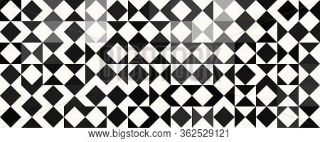 Fantastic Abstract Black And White Panorama Background Pattern
