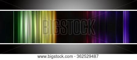 Fantastic Abstract Stripe Panorama Background Design Illustration