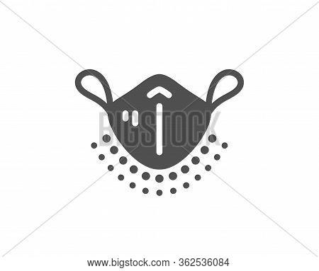 Medical Mask Icon. Safety Breathing Respiratory Mask Sign. Coronavirus Face Protection Symbol. Class