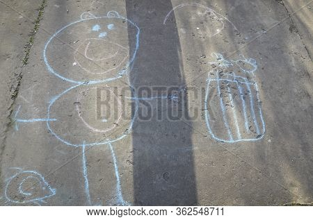 The Child Drew A Funny And Funny Image, A Picture.