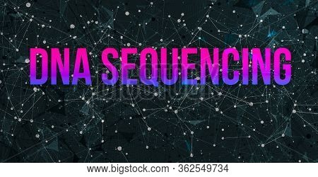Dna Sequencing Theme With Abstract Network Lines And Patterns