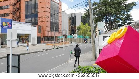 Bogota, July 6  Usaquen District In The  Newest Area Of Bogota Houses Modern Architectures And Green