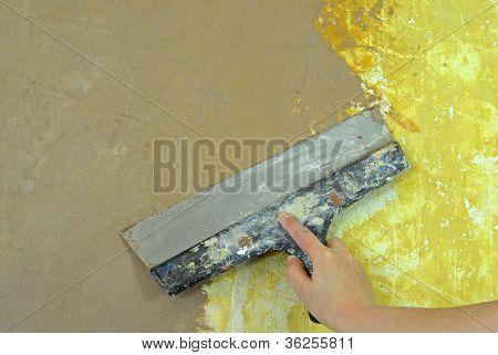 plaster filling wall repair decoration