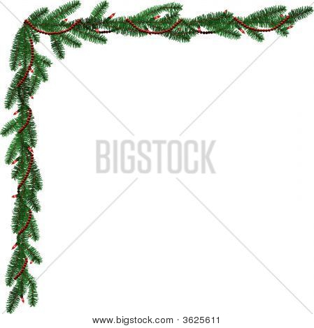 Red And Green Piine Garland