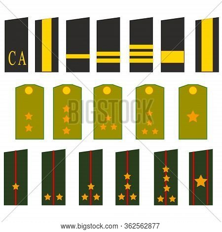 Shoulder Straps Soldier And Officer To Soviet Army