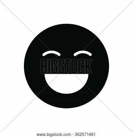 Black Solid Icon For Laugh Laughter Jibe Ridicule