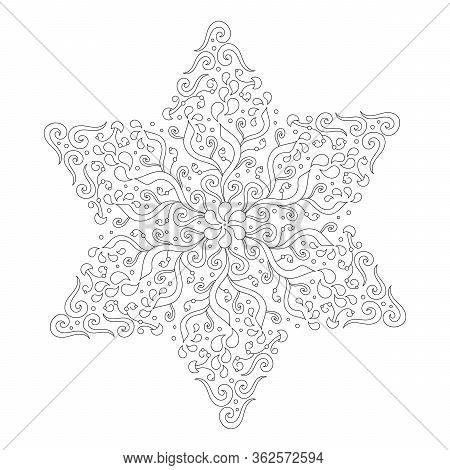 Mandala coloring page, adult coloring page, easy mandala coloring ... | 470x450