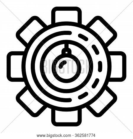 Gear Demolition Icon. Outline Gear Demolition Vector Icon For Web Design Isolated On White Backgroun
