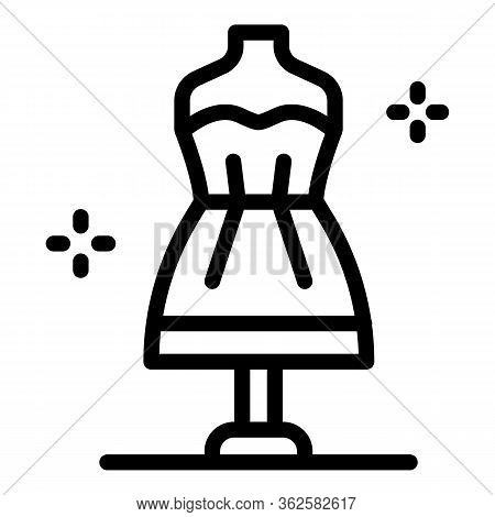 Stylist Dress Manequin Icon. Outline Stylist Dress Manequin Vector Icon For Web Design Isolated On W