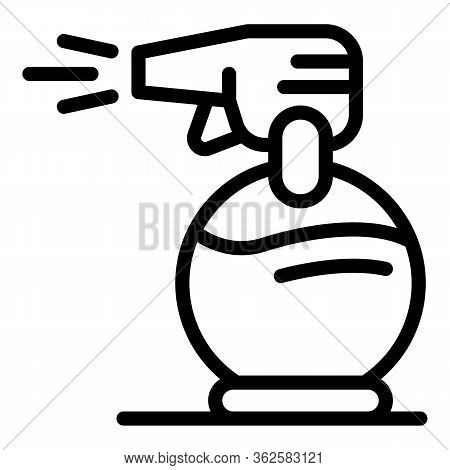Stylist Spray Icon. Outline Stylist Spray Vector Icon For Web Design Isolated On White Background