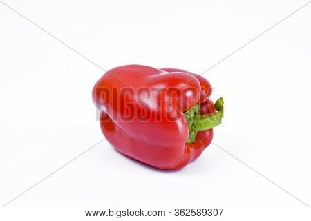 Paprika. Pepper Red. Bell Pepper Isolated. Sweet Red Peppers. With Clipping Path. Full Depth Of Fiel