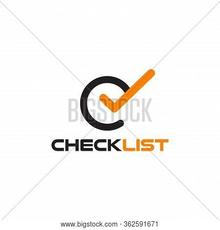 Check List Logo Design With Using C And L Letter Template