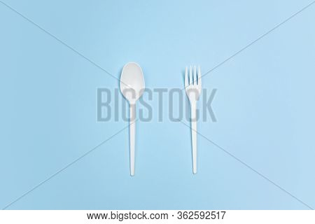 Fork And Spoon. Eco-friendly Life - Polymers, Plastics Things That Can Be Replaced By Organic Analog