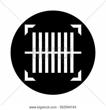 Bar Code Scan For Icon Isolated On White, Qr Code Scan Digital Symbol, Identification Data Code For