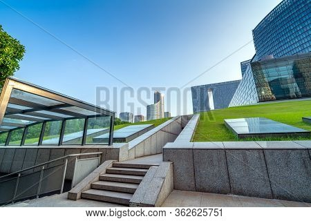 High-rise Buildings Near The Lawn, Hangzhou, China