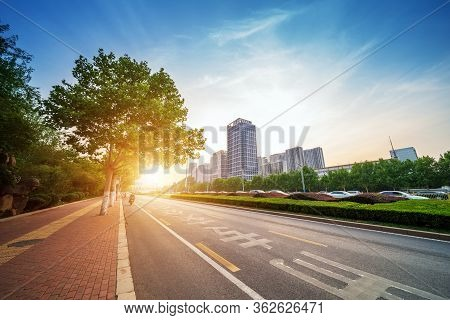 Dense Skyscrapers And Roads, Jinan Cbd, China.