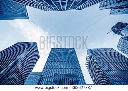 High-rise Buildings In The Financial District Of The City, Jinan, China.