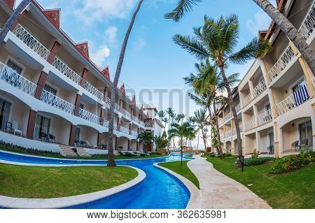 Punta Cana, Dominican Republic - March 15, 2020: Holiday Resort Be Live At The Dominican Republic, A