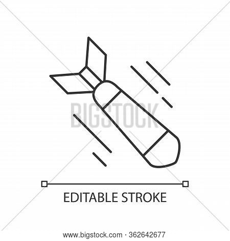 War Movie Pixel Perfect Linear Icon. Thin Line Customizable Illustration. Military Films, Serious Hi