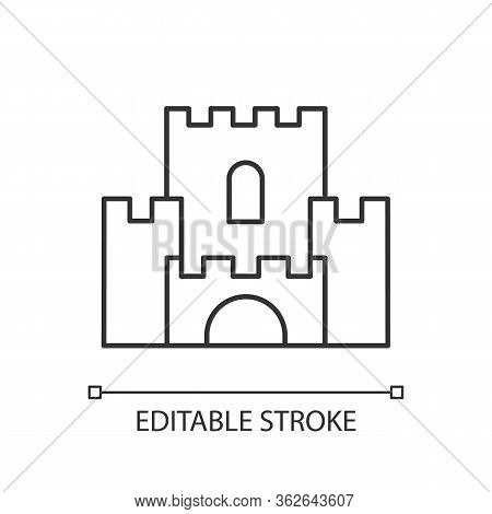 Fantasy Film Pixel Perfect Linear Icon. Thin Line Customizable Illustration. Fictional Story And Leg