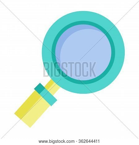 Magnifying Glass Isolated Icon. Zooming Instrument Tool For Enlarging Objects. Symbol Of Research R