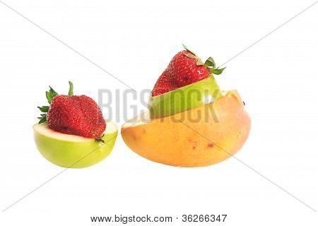 Strawberry, apple and mango