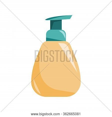Bottle Of Soap, Wash Your Hands. Vector Illustration. Health Care, Protection Of Coronavirus.