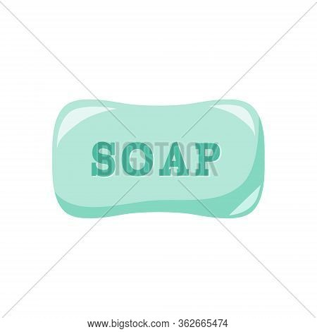 Soap Bar, Wash Your Hands. Health Care, Protection Of Coronavirus. Vector Icon
