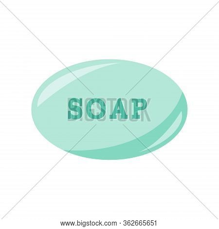 Icon Of Soap Bar. Protection Of Coronavirus, Flu. Vector Icon Illustration