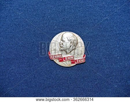 Ussr - Circa 1972: Badge With The Image Of Vladimir Lenin (ulyanov) From The Series