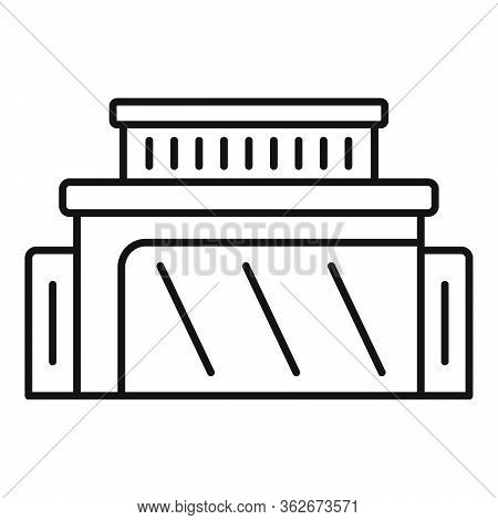 Rent Exhibition Center Icon. Outline Rent Exhibition Center Vector Icon For Web Design Isolated On W