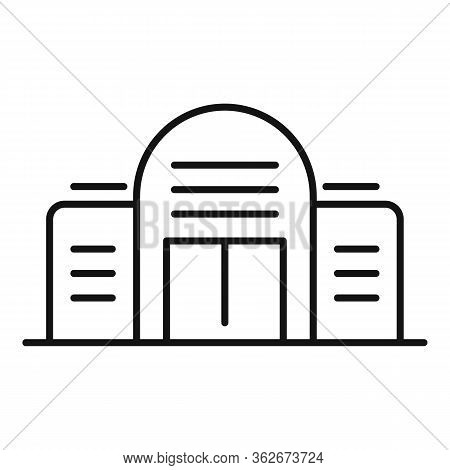New Exhibition Center Icon. Outline New Exhibition Center Vector Icon For Web Design Isolated On Whi